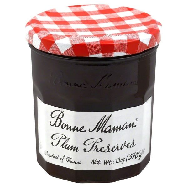Bonne Maman Plum Preserves, 13 Oz Glass Jars,6 Pack