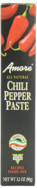 Amore Hot Chili Paste - Case of 12 Tubes