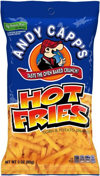 Andy Capp's Hot Fries, 3 oz, Case of 12 Bags