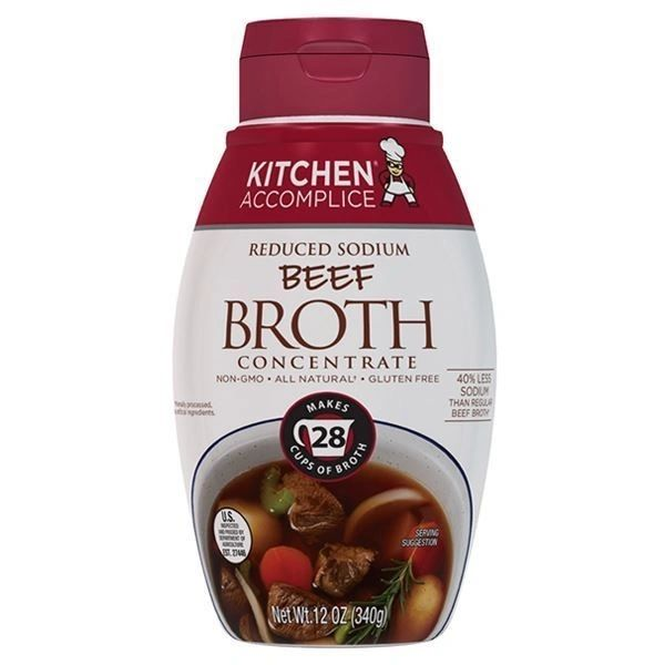 Beef Broth Concentrate by KITCHEN ACCOMPLICE 12 OZ- Pack of Six