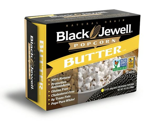 Black Jewell Microwave Butter Popcorn, Case of 6 -Three Packs