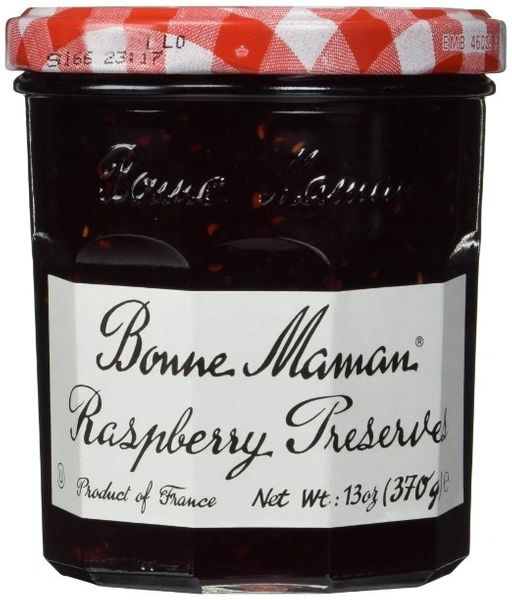 Bonne Maman Raspberry Preserves 13 Oz Jars, Pack-of-6