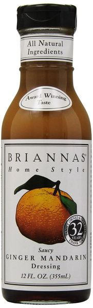 Brianna's Saucy Ginger Mandarin Salad Dressing - 12 Oz 6 Pack
