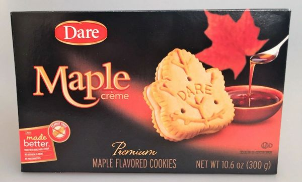 Dare Maple Leaf Creme Cookies, Pack of 12