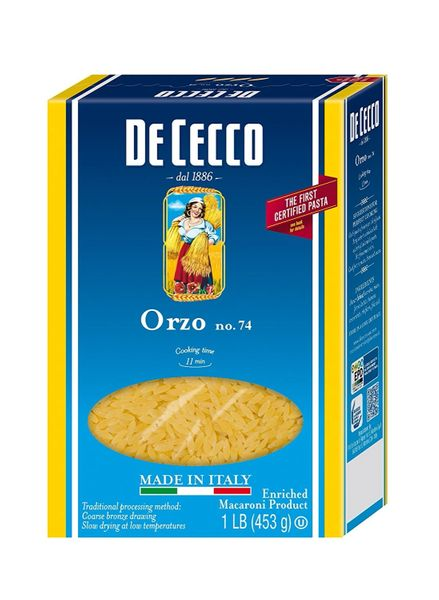 De Cecco Orzo Pasta, 16 Ounce (Pack of 6 Boxes)