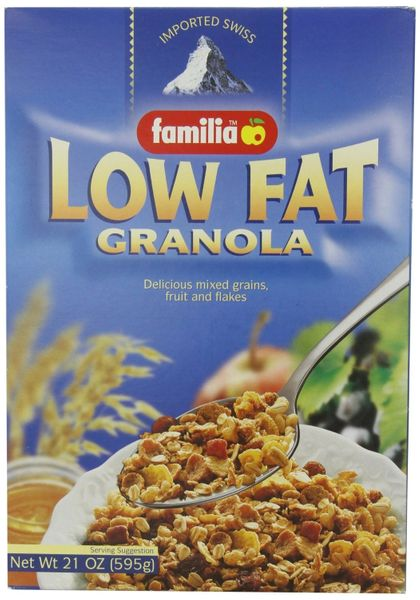 Familia Low Fat Granola Cereal, 21-Oz Boxes (Pack of 6)