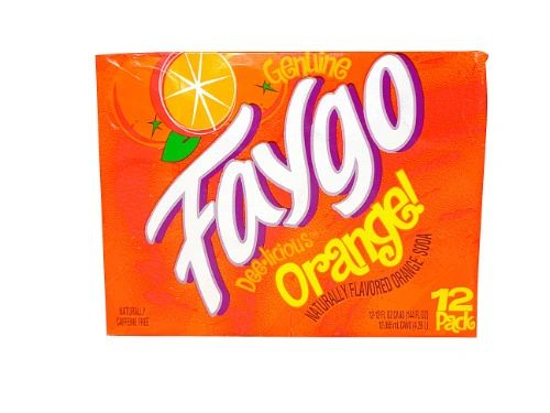 Faygo Orange Soda Pop/Soft Drink-12 Pack Cans