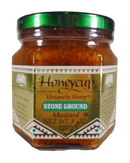 Honeycup Stone Ground Mustard - Case of Six Glass Jars(8 OZ)