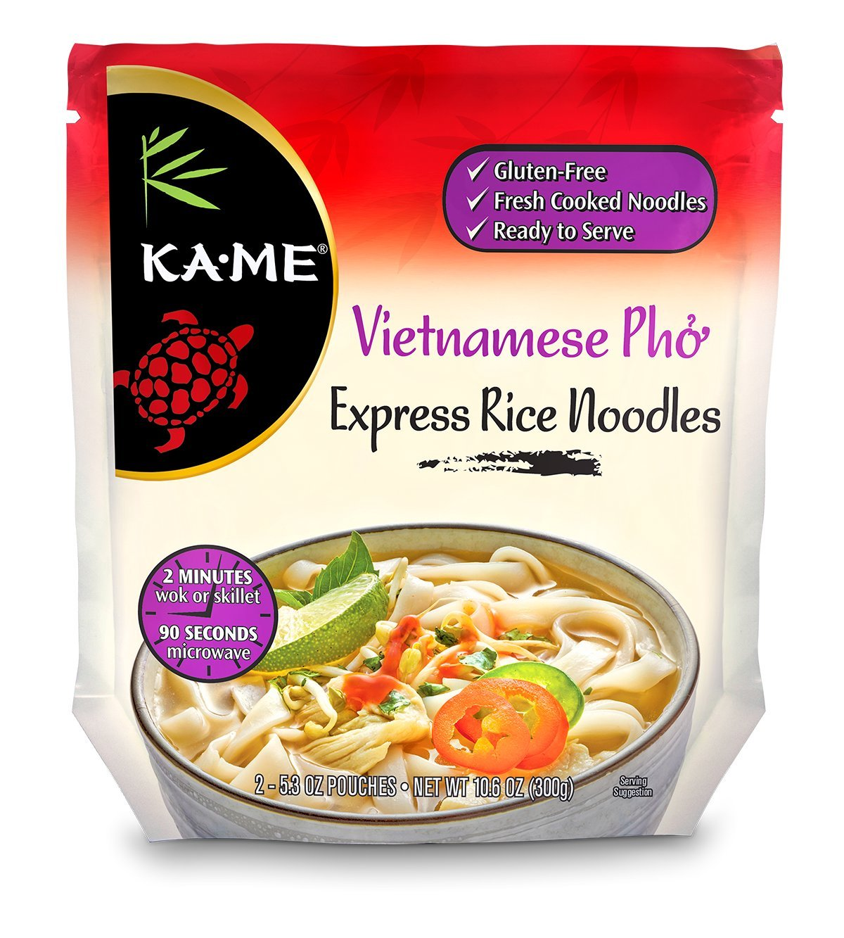 Ka-Me Express Rice Noodles, Vietnamese Pho, 10.6 Ounce (Case Pack of 6)