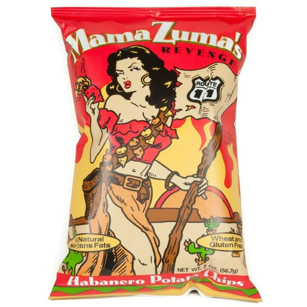 Mama Zuma's Revenge Habanero Potato Chips 6 Oz 12 Pack