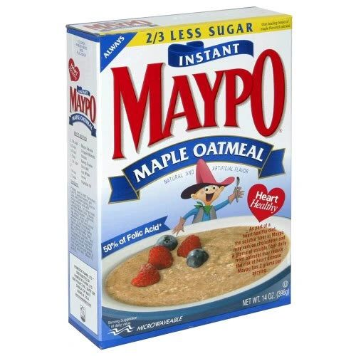 Maypo Oatmeal Maple Instant Hot Cereal, Pack of Three 14 Oz Boxes