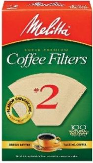 Melitta Natural Brown #2 Cone Coffee Filters 100 Ct -case of 12