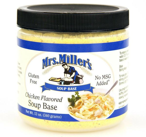 Mrs. Miller's Chicken Flavored Soup Base 6 -12 oz Jars