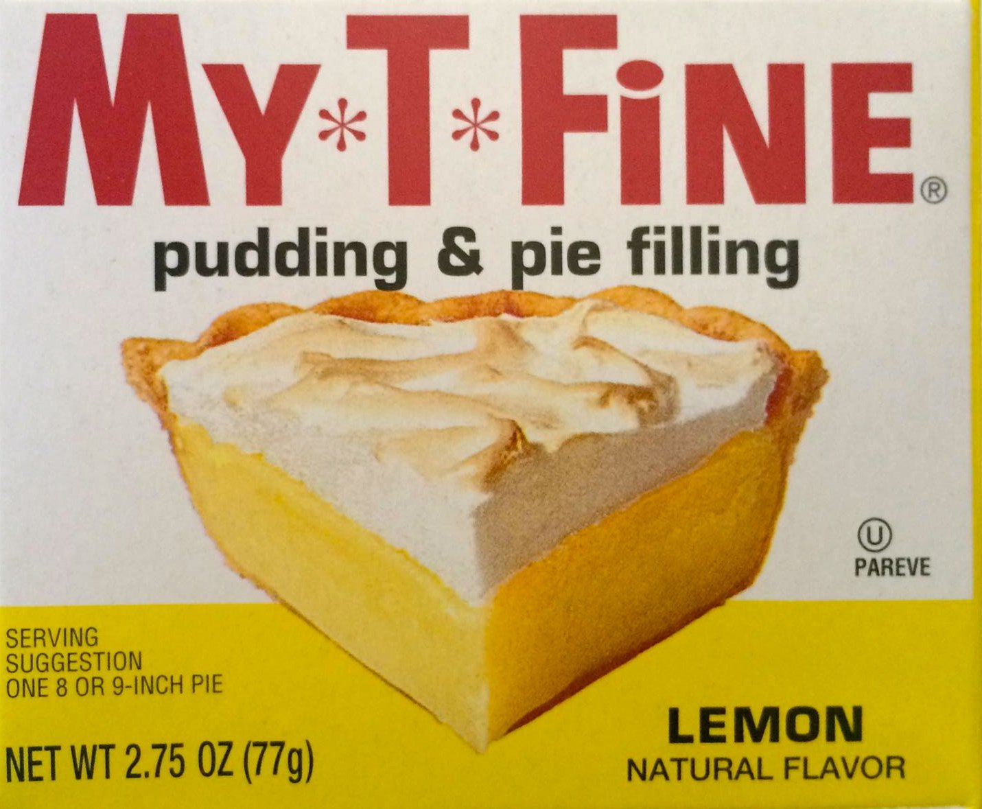 My T Fine lemon Pudding & Pie Filling 12 Box Case,  2.75 Oz Boxes
