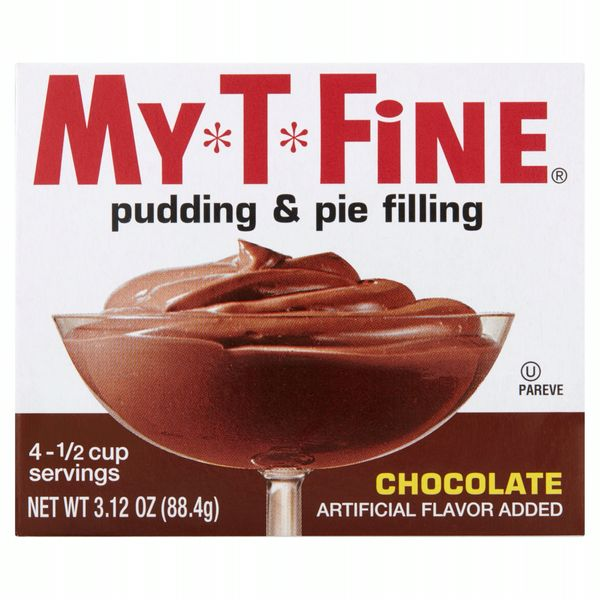 My-T-Fine Chocolate Pudding & Pie Filling, 12 Box Case-3.13 oz each Box