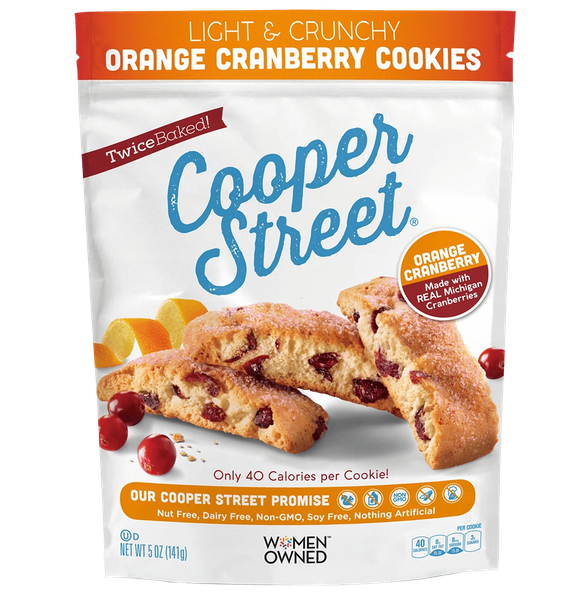 Cooper Street Orange Cranberry Cookies (5 oz Pouches, Pack of 6)