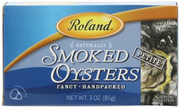 Roland Petite Smoked Oysters, 3-Ounce Cans (Pack of 10 Cans)