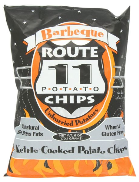 Route 11 BBQ Potato Chips, 6 OZ (Pack of 12)