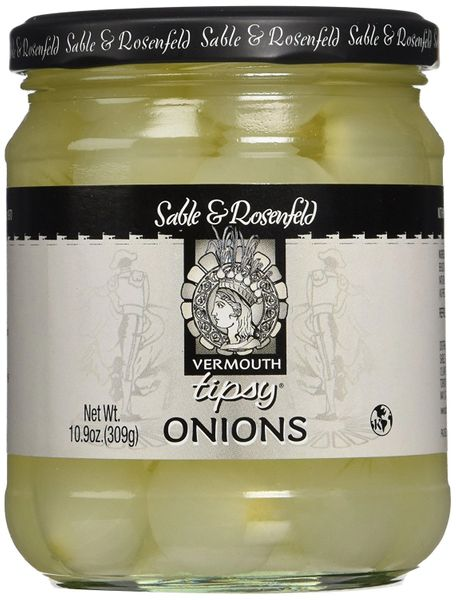 Sable & Rosenfeld Tipsy Vermouth Onions, Big 10.6 Oz, 6 jars
