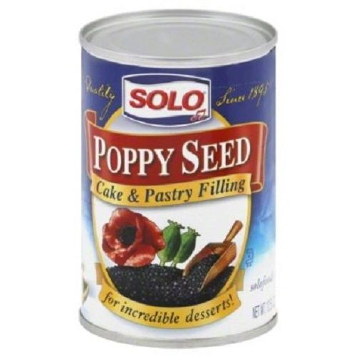 Solo Poppy Seed Cake & Pastry Filling, 12.5-Oz (Pack of 6)