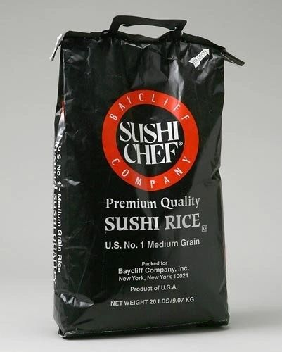 Sushi Chef Sushi Rice, Bulk 20 Pounds, # 1 Medium Grain