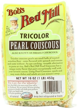 Bob's Red Mill Tri-Color Pearl (Israeli)Couscous, (Pack of 4)
