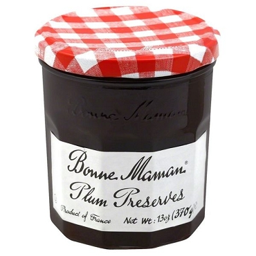 Bonne Maman Damson Plum Preserves, 13 Oz Glass Jars,6 Pack