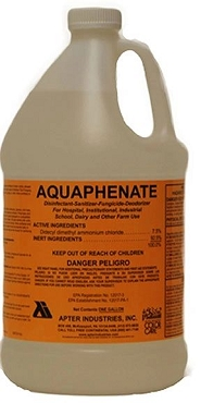 Apter AQUAPHENATE SANITIZER Concentrated Sanitizer, Disinfectant, Deodorizer, One Gal