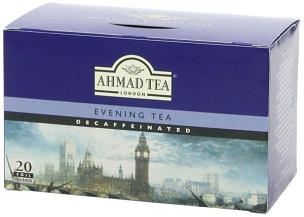 Ahmad Decaffeinated Evening Tea, 20-Count Boxes (Pk of 6 Boxes)