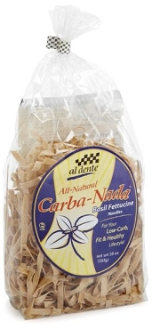 Al Dente Carba Nada Basil Fettucine Pasta, 10 oz (Pack of 6)
