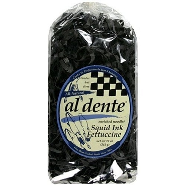 Al Dente Squid Ink Fettuccine Pasta, 12 Oz (Pack of 6)