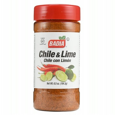 BADIA CHILE & LIME Seasoning, 6.5 Oz - Pack of Six Bottles
