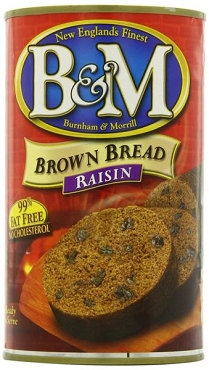 B & M Raisin Brown Bread, 16 oz, Pack of 6 Cans
