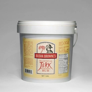 BUSHA BROWNE'S TRADITIONAL JERK SEASONING RUB Gallon Pail