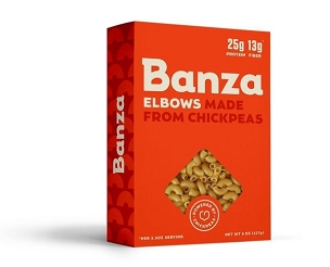 Banza Chickpea Elbow Pasta, 6 Boxes, 8 Oz each.