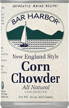 Bar Harbor New England Style Corn Chowder, 15 oz Cans, Case of Six Cans