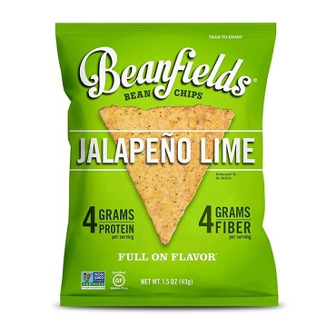 Beanfields Jalapeno Lime Bean Chips, 1.5 Oz Bags, Case of 24 Bags