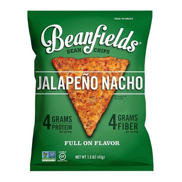 Beanfields Jalapeno Nacho Bean Chips 1.5 OZ (Pack of 24)