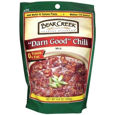 Bear Creek Country Kitchens Darn Good Chili Soup Mix, 9.80 oz, Case of 6 Pouches