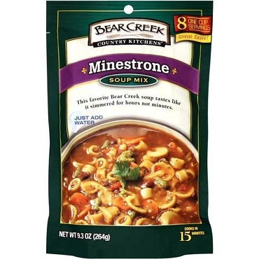 Bear Creek Country Kitchens Minestrone Soup Mix, 9.3 oz, Case of 6