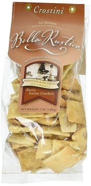 Bello Rustica Crostini, Parmesan & Pecorino Rustic Crackers, 12 Pack
