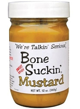 Bone Suckin' Sweet Hot Mustard, 12 Oz, Six Glass Jars
