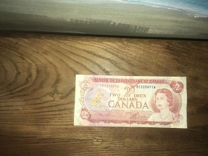 Canadian $2 Bank Note, Circulated, 1974, RC 2230716