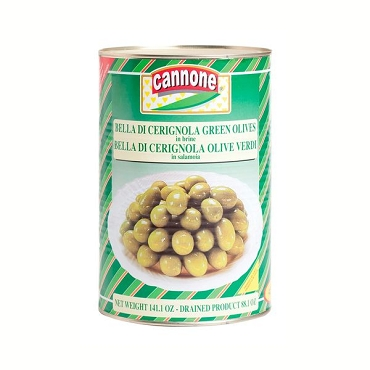 Cannone Green Cerignola Olives - 1 can ,8.8 Lb( 5.5 lb dry Wt)