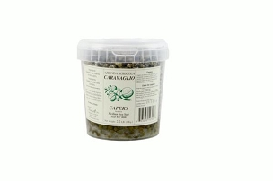 Caravaglio Salted Capers from Sicily (6-7 mm), 2. 2 Lb(1Kg) Tub