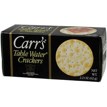 Carr's Half Pack Table Water Crackers, 2.2 Oz (Case of 24 Boxes)
