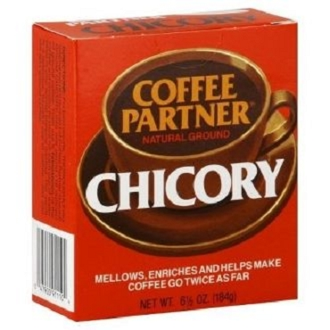 Coffee Partners brand Ground Chicory, 6.5 OZ (Pack of 12)