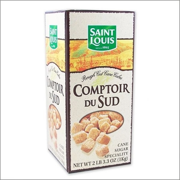 Comptoir St Louis Amber Rough Cut Sugar Cubes - Case of 8 Boxes