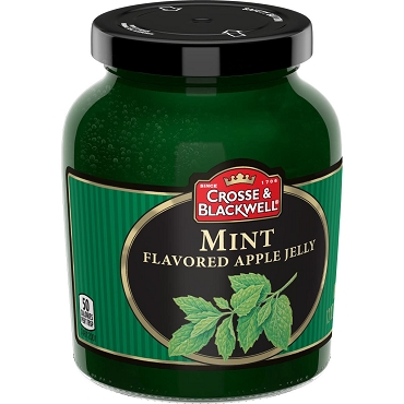 Crosse and Blackwell Mint Apple Jelly, 12 Oz - 6 glass jars per case.