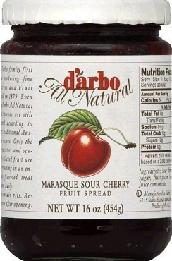 D'arbo All Natural Marasque Sour Cherry Fruit Spread - 6 Pack